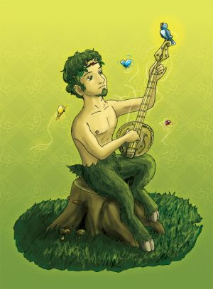 Green Faun as can be