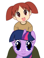 Twilight Sparkle - With Chiyo by Creshosk
