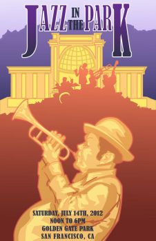 Jazz in the Park poster design by n8gee