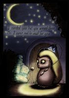Waiting for you at night... by Aphilien
