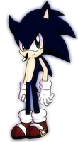 Dark Sonic? PDN Effects :D by vickithehedgehog