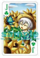 card sample - Jack of spring by Fortranica