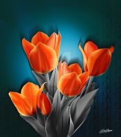 Tulips with Grey Leaves by satishverma