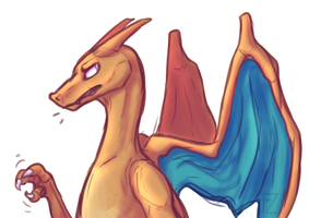 Bored charizard by FluffZee
