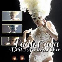 Lady Gaga BRIT Awards by justinygagamylife