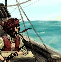 Pirate at Sea by lieusum