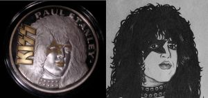 Paul Stanley Coin with Art by Mr-Mordacious