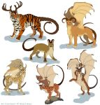 Various manticores by Anisis