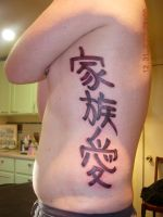 Family love in kanji by Joshua-adam