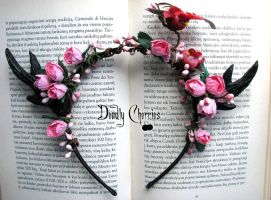 Enchanted dear horns headband BLOOMING GARDEN by CountessAudronasha