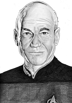 Captain Jean Luc Picard by B-Richards