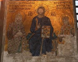 Hagia Sophia Mosaic by places-of-worship