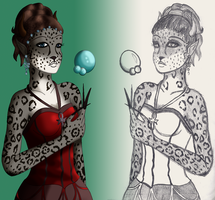 Amaranth from Sketch to Cartoon by I-Major-In-Magick