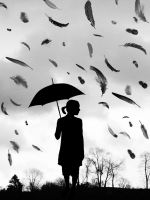 Raining feathers by Ruby125