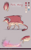 Pink Wing Ref Sheet by Floeur