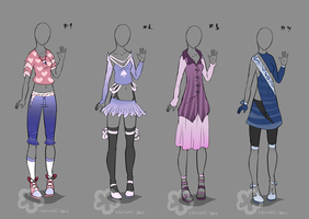 More Fancy Outfits #2 - sold by Nahemii-san