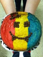 Romania Cookie Cake by Yolapeoples