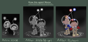 Draw this again Olimar and Louie by MudSaw