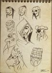 Face sketches 7 : school assignment time by Mocrasar