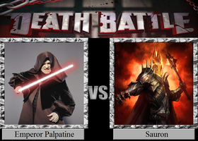 Emperor Palpatine vs. Sauron by JasonPictures
