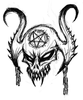 Satanic Skull by Mark-MrHiDE-Patten