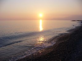 Tramonto sul mare by walktothewater