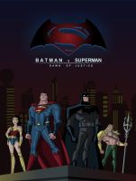 Batman v Superman - justice league unlimited by Diego-ArtistaDigital