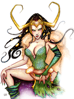 Lady Loki by HollyTheTerrible