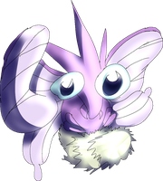 Venomoth by danceswithzerg