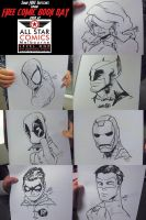 Sketches from FCBD by theCHAMBA