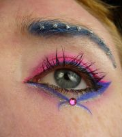 Blue Hot Pink Eye Stock 1 by Melyssah6-Stock