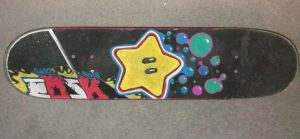 Personal Power Star Skate Deck by EmeyeX