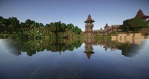 Looking Over The Block Lake :D by Pen911