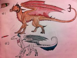 Dragon Adoptables ONE OPEN by queenfirelily17