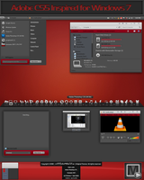 Pre Black-red for Windows 7 by vi20RickrMetal12us