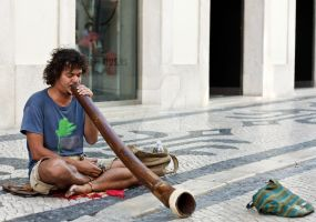Didgeridoo Man by OnMostSurfaces