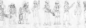 Female TF2 Cast by CelebrenIthil