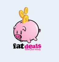 logo for fat deal.com by MyTriangle
