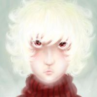 Albino!Karkat - HS White and Red FA by GingerSnake