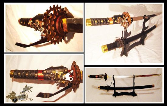 KATANA - SWORD  STEAMPUNK - AIDEN by lego999666