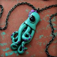 Teeny Squid Necklace by beatblack