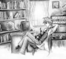Gary Oak -  Study Break by The-Legendaerie-LT