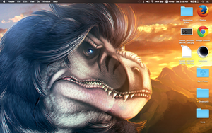 The Fuzzy Rex on my Desktop by Ghostwalker2061