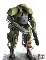 Army meley robot concept by DStraX