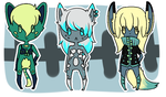 Anthro Adopts [set 1] [OPEN] by Eeyrie