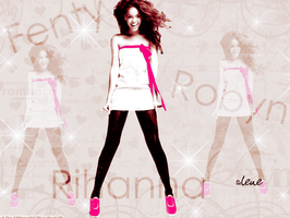 Rihanna wall 2 by silene7