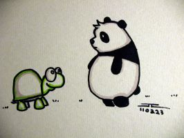 Turtle and Panda by jsos