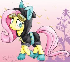 Fluttershy's Dangerous Mission Outfit by lylade3