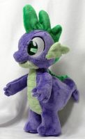 Spike plush for Exbibyte by Cryptic-Enigma