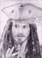 Jack Sparrow drawing by Pieceofrope